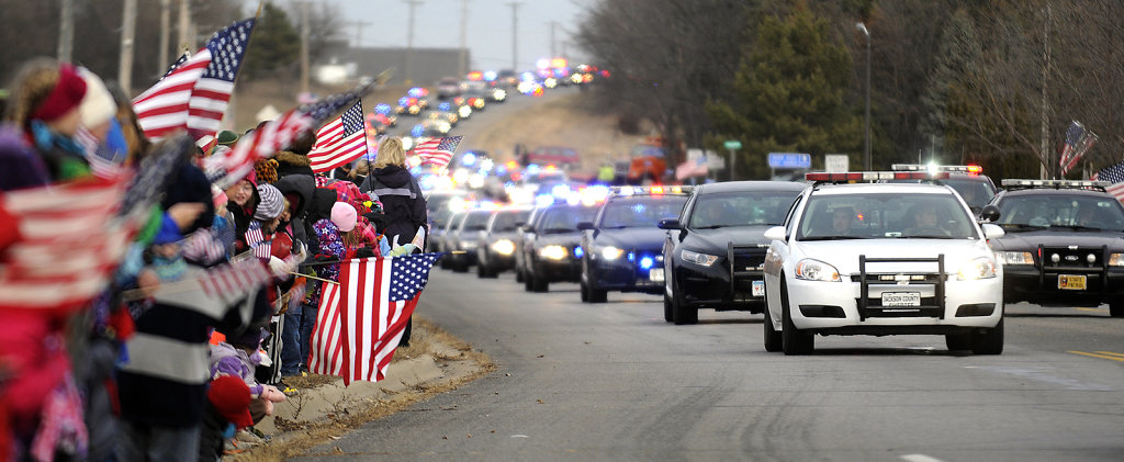 Officer Tom Decker funeral procession